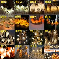 Halloween String Lights Halloween Decorations 3m 20 LED Skull LED Lights Ghost Pumpkin Lights Hanging Lamp For Xmas Party Decor Wholesale