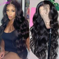 30inch 레이스 전면 바디 웨이브 인간의 머리 가발 흑인 여성을위한 페루 가발 정면 13x4 투명 자연 머리카락 perruque cheveux