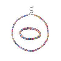 New Bead Bracelet Necklace Set Fashion Bohemian Soft pottery Polyester Clay Bracelet For Women Femme Beach Colorful Jewelry