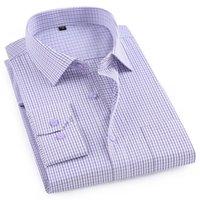 Manta das camisas dos homens do estilo clássico MACROSEA de manga comprida Homens Camisas Casual Confortável Office-desgaste dos homens respirável vestuário 200925