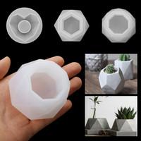 Силиконовые растение PAND FORLS Форма искусств ремесло полигональные литейные формы DIY сочный горшок глиняной плесенью 3 стилей бетонная плесень