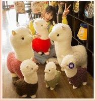 Kawaii rainbow ألباكا أفخم دمية اللاما التميمة الملونة وسادة محشوة الحيوانات اللاما alpacasso لعب الأطفال أطفال هدية A4334