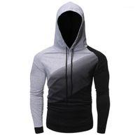 Casual Loose Pullover Sweater Sweatshirts Men Hoody Sweat Homme Hoodie Sweatshirt Long Sleeve Man Colorblock Hooded Sweater Fashion Trend