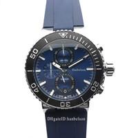 YENİ Erkek Spor İzle saatı montre Japonya Kuvars hareketi Kronograf mavi yüz saatı Çelik Kasa montre de luxe