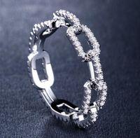 2020 Новый креативный дизайн цепи женщин кольцо с Micro Асфальтовая Destiny Link Пара кольцо для GirlfriendBoyfriend Горячий продавать товары