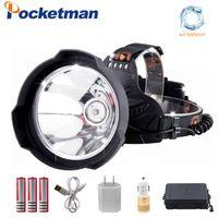 proiettori a LED 35000 Elmetto USB Light LED lumen faro luminoso eccellente ricaricabile, Elmetto lampada della testa utilizzo Potente 18650