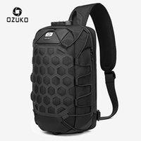 Erkekler Su geçirmez Sling Messenger Çanta Erkek USB Şarj Crossbody Bag için OZUKO Fonksiyonlu Erkekler Omuz Çantası Hırsızlık Göğüs Çanta