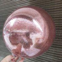 Leeiu Wedding della decorazione di DIY trasparente glitter Balloons Confetti Aria sfera di compleanno Baby Shower decorazione del partito del PVC Helium Baloons