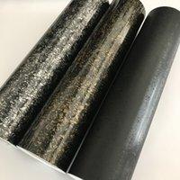 Brillante 3D forjado Negro de plata de fibra de carbono de oro de embalaje película del vinilo pegatinas motocicleta Adhesivos Accesorios para automóviles Car Styling