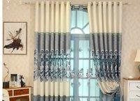 2020 Heimtextilien im europäischen Stil Chenille chinesische Stickerei Vorhang hochwertiger Wohnzimmer Villa Vorhang Fertigprodukte