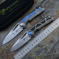 VENOM INCUBO Kevin John M390 titanio maniglia Flipper coltello pieghevole tasca cuscinetto a sfere la lama di campeggio coltelli da caccia strumenti EDC