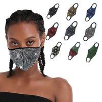 Флэш Алмазного Rhinestone Star Face Mask модница Ночной клуб Party Персонализированная Настройка Многоразовых маски пыленепроницаемого HHC1277