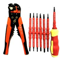 Schraubendreher-Set Elektriker Pen Kit Handwerkzeuge Zangen automatische Abisolierzange Tubular Crimpwerkzeuge Hand Crimpzange