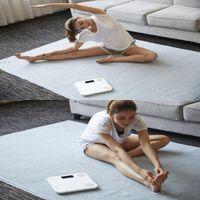 Balança banheiro FreeshippingHot inteligente Yunmai Mini Balança Digital gordura corporal Body Balance Humanos Balanças Piso Balance Ligação presente