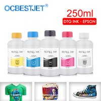 Ink Refill Kits 250ML Set DTG Textile Garment For DX5 DX7 R330 1390 1400 R1900 R2000 F2000 F2100 (BK C M Y White Pretreatment)