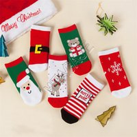 Bambini calzini di Natale Santa Claus Snowflake Elk Cartoon Calze Inverno Asciugamano caldo Terry Medio livello calzini per bambini Toddlers Baby D9808