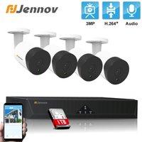 أنظمة Jennov 4ch HD H.264 3MP PoE كاميرا CCTV فيديو NVR نظام مراقبة أمن الوطن 4PCS في الهواء الطلق