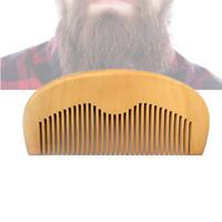 sakal tarak toptan Ahşap Tarak Saç Fırçası Şeftali Ahşap El Yapımı Ince Diş Cep Seyahat Hairbrush Erkekler Yüz Sakal Bakım Aracı Hediye Toptan