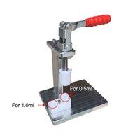 mini-mandril Press Machine para o branco / preto Cor completa cartucho cerâmico portátil Compressor manual Para 0,5ml 1ml de espessura óleo caneta 510 vaporizador