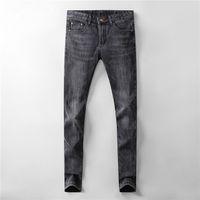 Новый осенний дизайн обычные джинсы классики прямые повседневные брюки ковбой знаменитый бренд молнии дизайнер Горячие продажи Мужской дизайнер размер 29-40