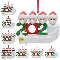 IN STOCK 검역 크리스마스 생일 파티 장식 수지 재료 선물 제품 개인 가족 장식 유행성 사회적 거리를