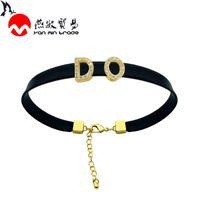 Alta Carta de Qualidade Pulseiras de couro para mulheres clássico do ouro 26 Initial Name Charm Bracelet Bijuteria Casal presente