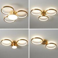 Copper modern ceiling chandelier lamp Nordic creative new bedroom balcony aisle lights  LED indoor lighting Fixtures