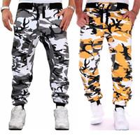 الرجال السراويل زوجا التمويه الهيب هوب نمط مطوي الحريم السراويل الذكور رياضة sweatpants زائد حجم S-3XL جيوب للرجال