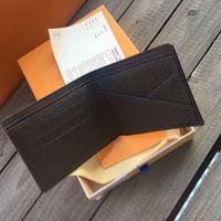 Auf Lager! Frankreich-Münzenbeutel Mannfrauendame Ledergeldbörse Schlüsselmappe Mini-Portemonnaie Seriennummer Box Staubbeutel
