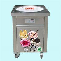 ETL CE KOLICE COCINA EQUIPO DE COCINA DE ALTA CALIDAD 55 CM Máquina de helado de rollo redonda con refrigerante