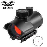 Tacitcal Rojo Dot Vista Ámbito Holográfico 1x30mm 11 mm 20mm Soporte de riel de tejedor para la caza táctica Óptica