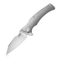 "Kubey Solider - KB281 Outdoor EDC faca dobrável 3,5"" Beadblast Aus-10 Handle 6AL4V Titanium para a caça"