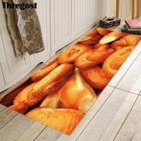 Thregost Кухня Напольное ковровое покрытие 3D микрофибры Mat Современная замша мягкая Кухня Бар моющийся Ковровые Новогодние украшения Ковер для дома
