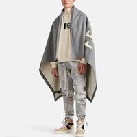 20SS FG Moda Cloak Ceket Havlu İşlemeli Battaniye High Street Klasik Kadınlar Erkekler Sıcak Casual Ceketler HFYMJK3 Blanket eskitmek