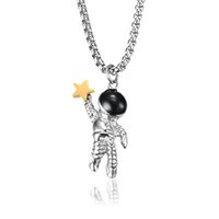 necklace women star astronauta pendant stainless steel necklaces pendants women accessories fashion necklace jewelry on the neck