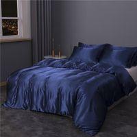 Designer Bed Comforters Sets 2021 New Polyester Ice Silk Duvet Cover Adult Child Pillowcases Comforter Bedding Set