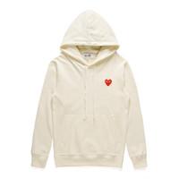 Clássico jogar 'designers unisex casual hoodies # c001 outono inverno harajuku moda' luxurias estilista vermelho coração homens mulheres cdg camisolas