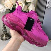 Стильная повседневная обувь Clear Подошва Scarpe Triple-S Leisure Женская обувь Платформа Тройные S папа кроссовки для мужчин Урожай Де Chaussures Trainer