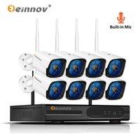Sistemas Einnov 8ch Sistema de câmera de segurança sem fio com gravação CCTV 1080P Video Surveilance Kit IP NVR WiFi Camara Set Record