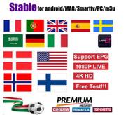 Offre Spéciale Européenne TV Smart TV Android Ios Mag Box M3U États-Unis Allemagne Italie Pays-Bas Arabie Roumanie Canadá Programas de Télé