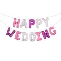 16 İnç Mutlu Düğün Harf Alüminyum Folyo Balon MUTLU EVLİLİK Düğün Dekorasyon Balon In Stock