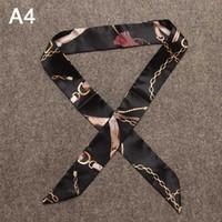 Аксессуары Шелковый шарф для сумки моды Сумка платке Pattern Дикий шелковый шарф для Связали Bag Оптовые 40 Styles 2020