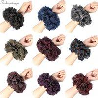 Kadınlar için Büyük Beden Müslüman Handbands Esnek Kauçuk Bant Rahat Hacimlendirici Scrunchies Saç Tie Saç Bantları