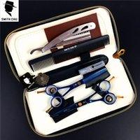 Tesoura de cabelo Smith Chu Professional Set 5.5 / 6.0 polegadas Arco-íris Reta Rosas Traseiras de barbeiro + Razor + pente + kits
