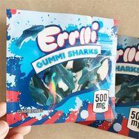 Sıcak Yeni 500mg Errlli Gummi Köpekbalıkları Yenilebilir Ambalaj Koku Geçirmez Çanta Savaş Başları Skittles Kitaplar Boş Şeker Mylar Çanta Kılıfı Paketi DHL