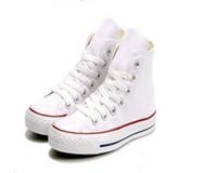 انخفاض الشحن العلامة التجارية الجديدة 15 ألوان كل حجم 35-46 عالية أعلى نجوم نجوم منخفضة أعلى الكلاسيكية قماش حذاء أحذية رجالية المرأة عارضة الأحذية 055