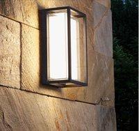 مصابيح الحديثة الإضاءة في الهواء الطلق مقاوم للماء LED الجدار الصناعي الألومنيوم حديقة جدار أضواء الشرفة البيضاء أضواء بلكونة ممر 9W