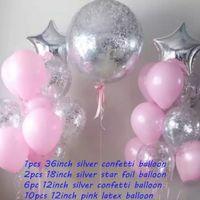 Decoração do casamento da festa de aniversário crianças na da Nova criativa Balão Combo Set Evento Local Atmosfera Disposição