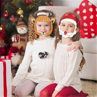 أقنعة الولايات المتحدة عيد الميلاد هالوين المالية واقية الأطفال يواجهون سانتا كلوز القرع الإسفنج الجبهة المضادة سبلاش فتى فتاة PET الوجه Shiled