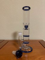 11 Inch 22 CM Water Pipe Three Layers Honey Comb Blue And Bl...